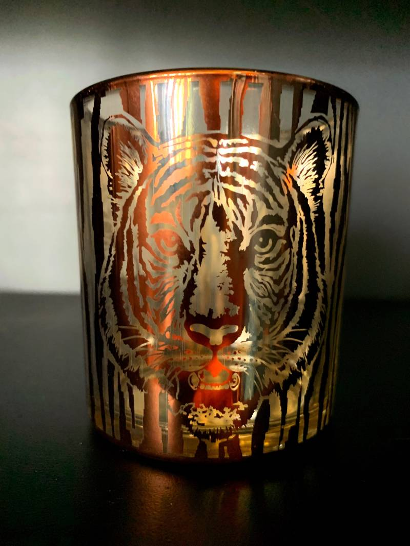 Tealight Holder 'Tiger'     Gold