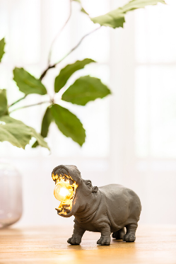 Table Lamp Hippo Grey