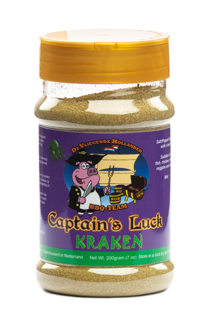 "Captain's Luck ""Kraken"" bbq rub 200 gram"