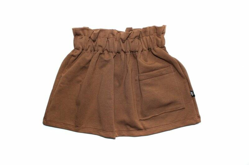 BROWN - POCKET SKIRT