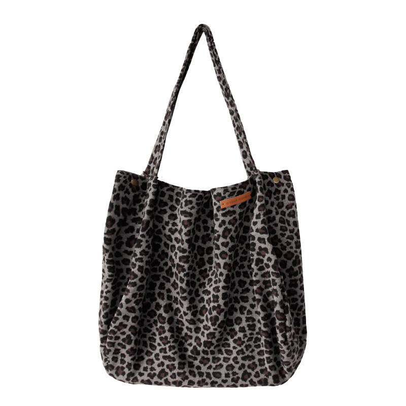 SMALL LEOPARD JACQUARD - MOMMY TOTE BAG