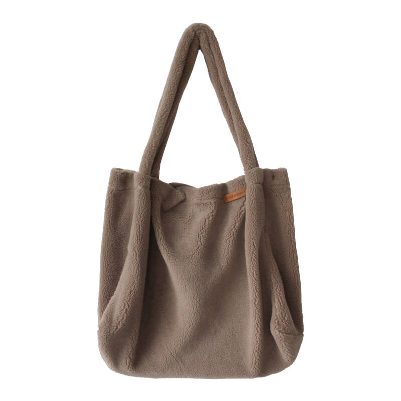 TEDDY TAUPE - MOMMY TOTE BAG