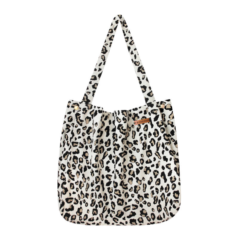 LEOPARD JACQUARD - MOMMY TOTE BAG