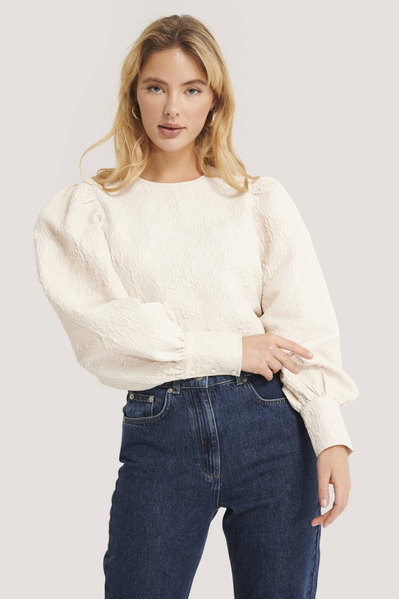 NA-KD Structured Big Puff Sleeve Blouse