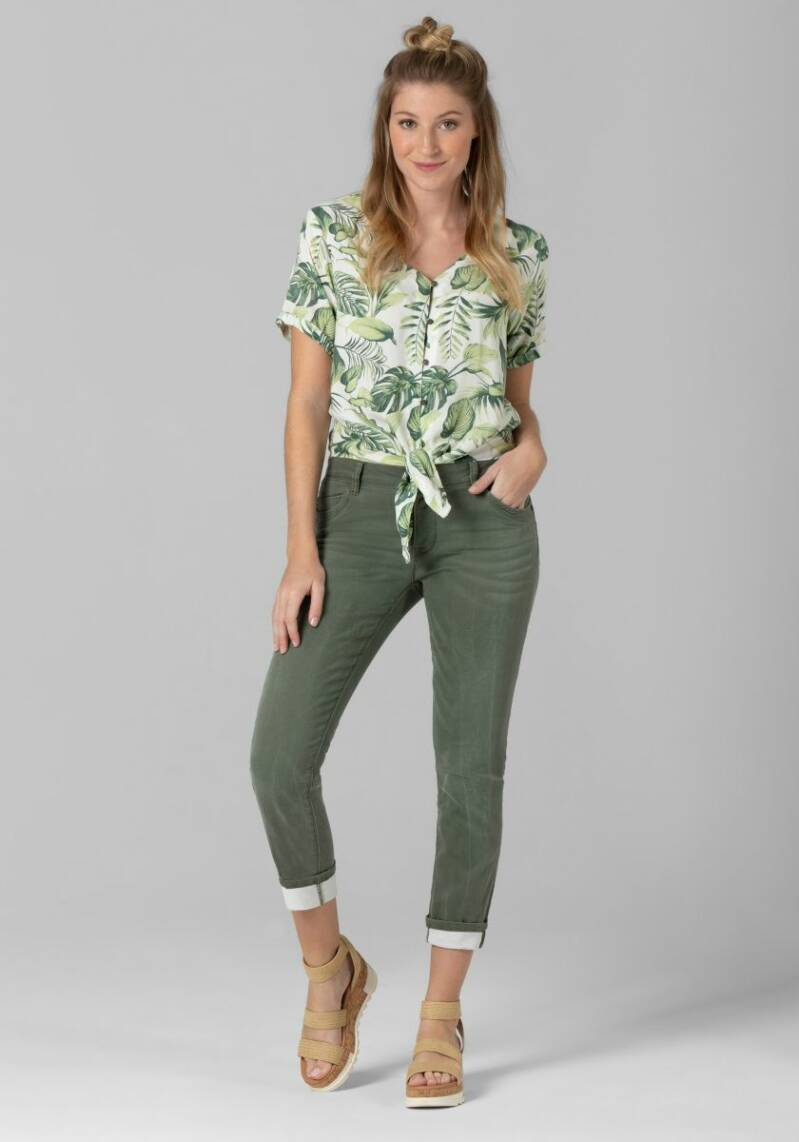 Timezone Printed Knot Blouse