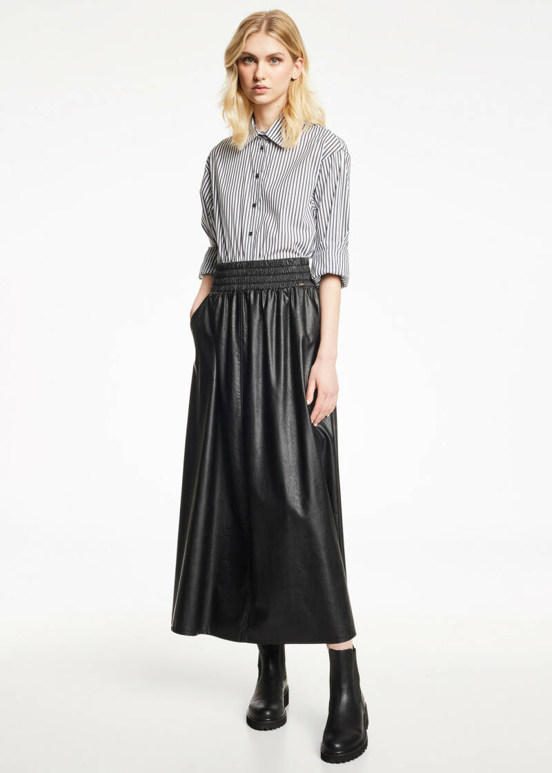 Gaudi Faux Leather Skirt
