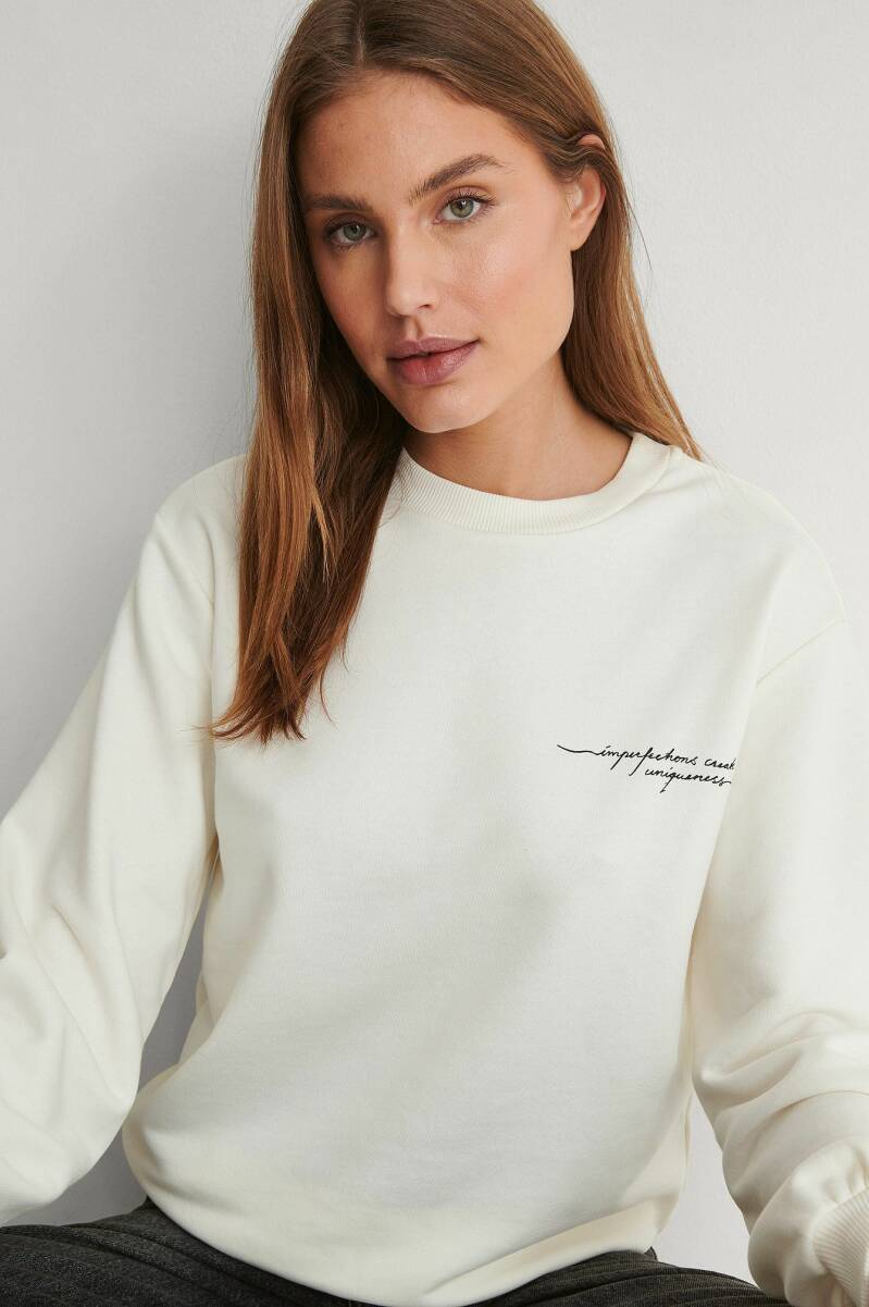 NA KD Quote Printed Sweater