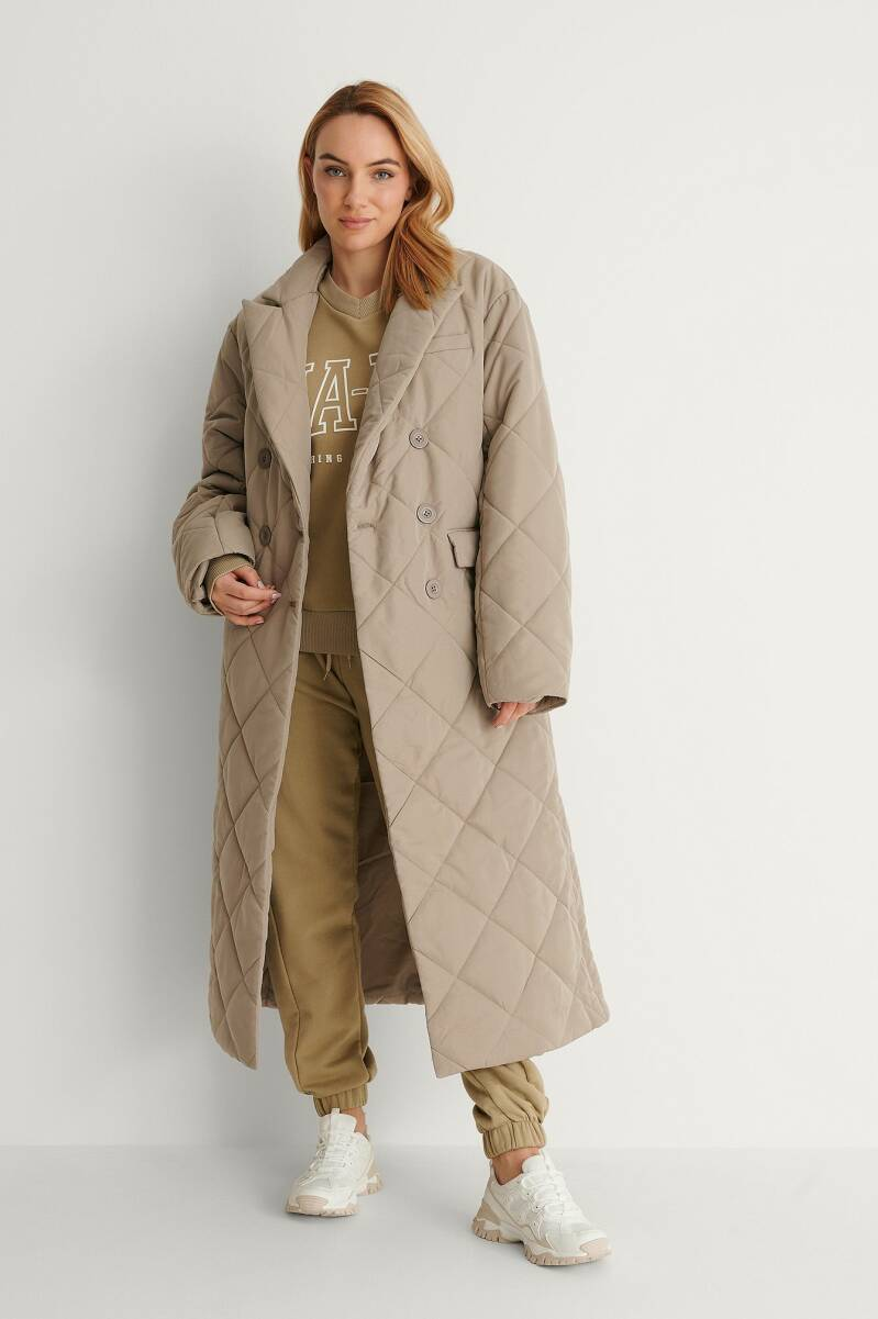 NA-KD Quilted Coat