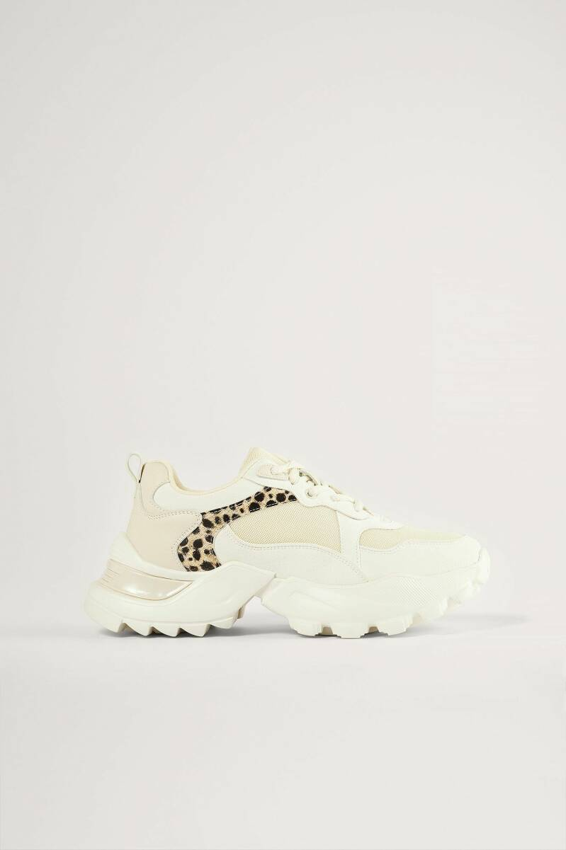 NA-KD Leopard Detail Trainers