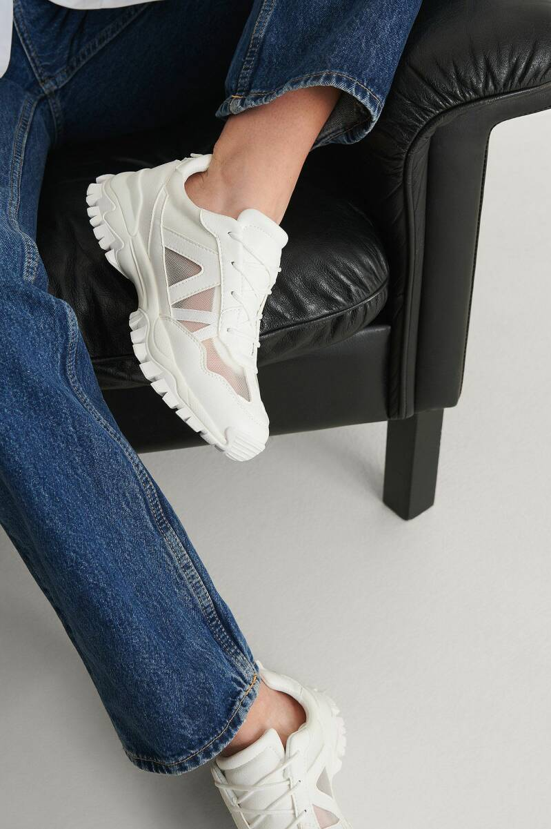 NA-KD Transparent Mesh Trainers