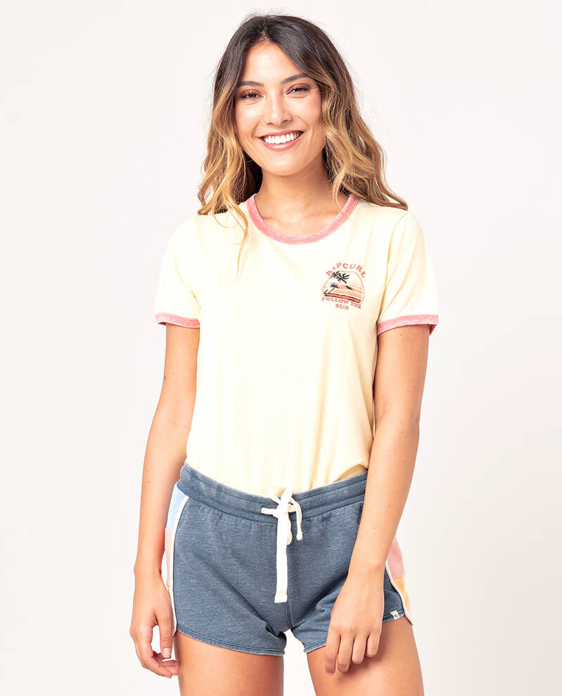 Golden State Ringer TEE Rip Curl