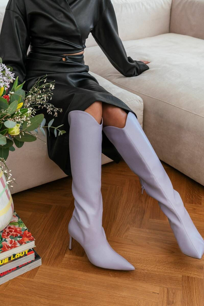 NA-KD Pointy Shaft Boots Lilac