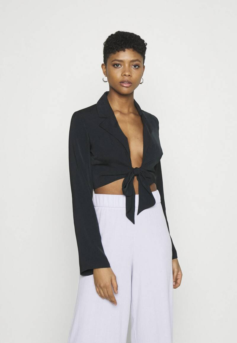 NA-KD Front Tie Blouse