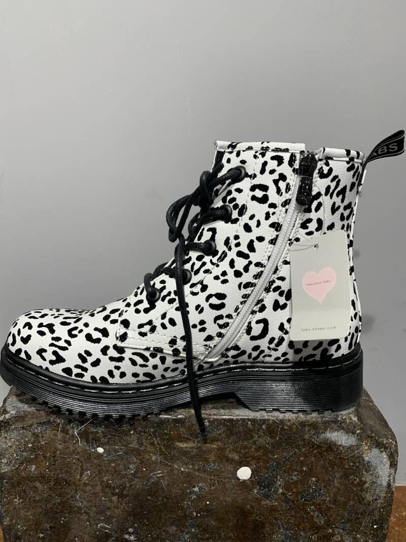 Fabs Chunky Boots Leopard