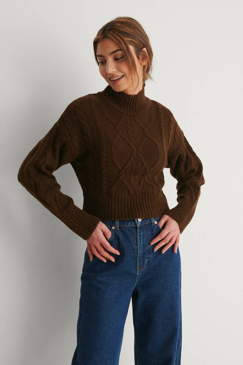 NA-KD Cable Knitted Sweater