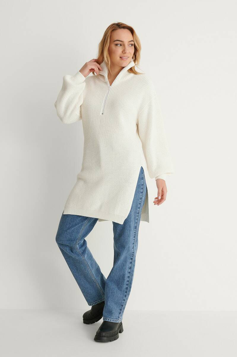 NA-KD Slit Knitted Sweater