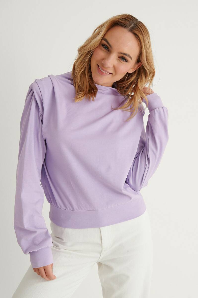 NA-KD  Pleated Detail Sweater