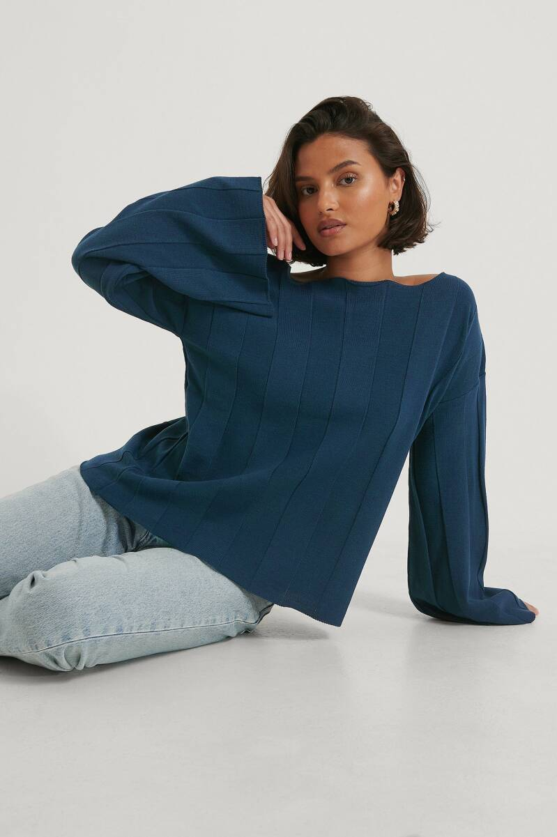 NA-KD Big Ribbed Cropped Knitted Sweater