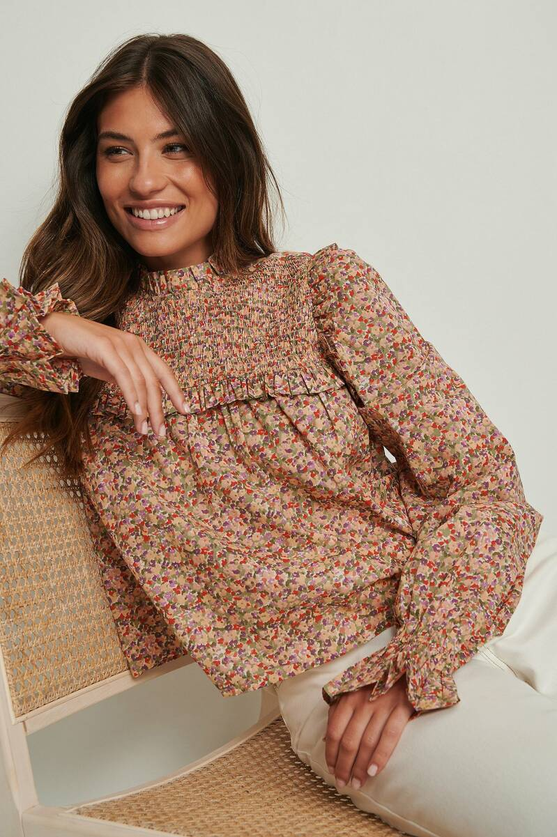 NA-KD Puff Sleeve Cotton Blouse
