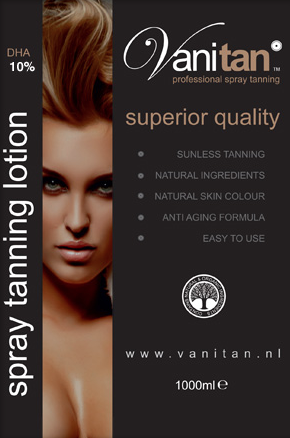 VANITAN spray tanning lotion 10% DHA (medium)