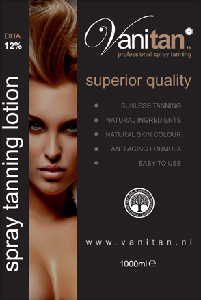 VANITAN spray tanning lotion 12% DHA (dark)