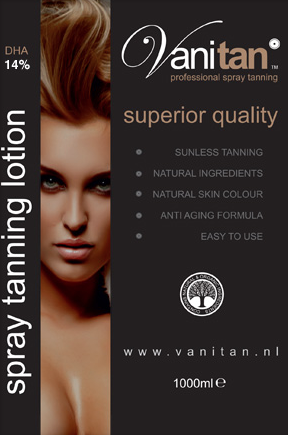 VANITAN spray tanning lotion 14% DHA (extra dark)