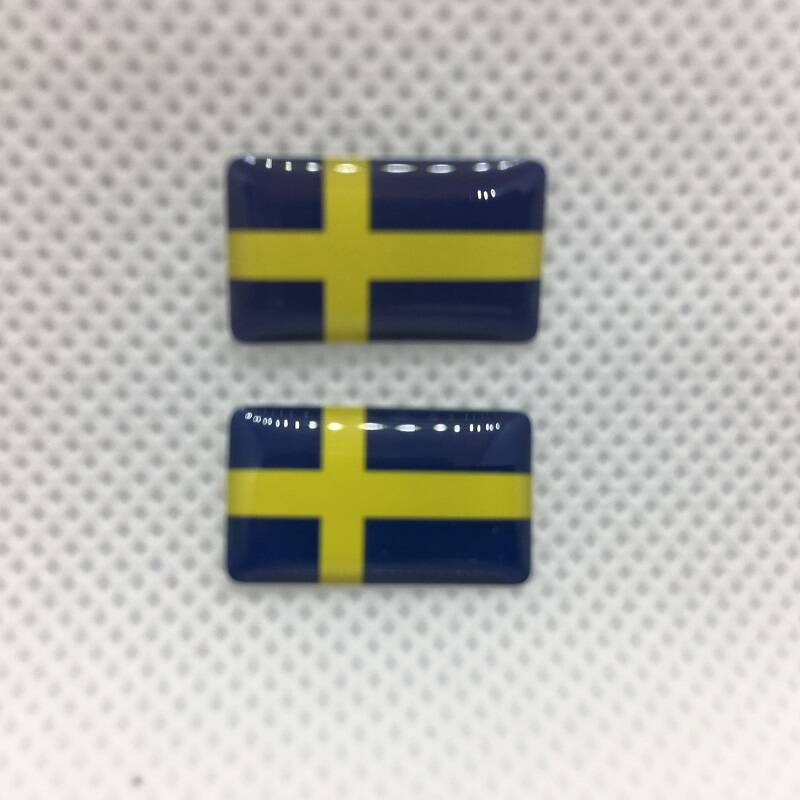 Zweedse vlag badge mini SET