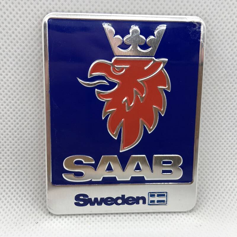 SAAB logoschild 55x70mm