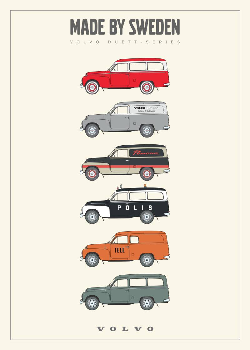 Poster, Made by Sweden - DUETT-series