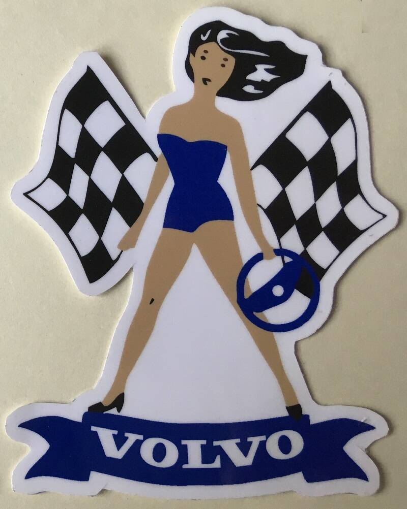 Repro sticker PIN-UP VOLVO