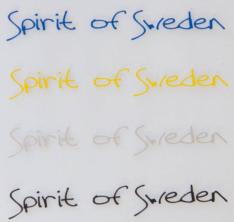Spirit of Sweden tekststicker