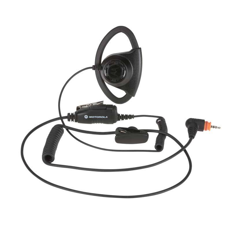 Adjustable D Style Earpiece with Inline Mic/PTT PMLN7159A