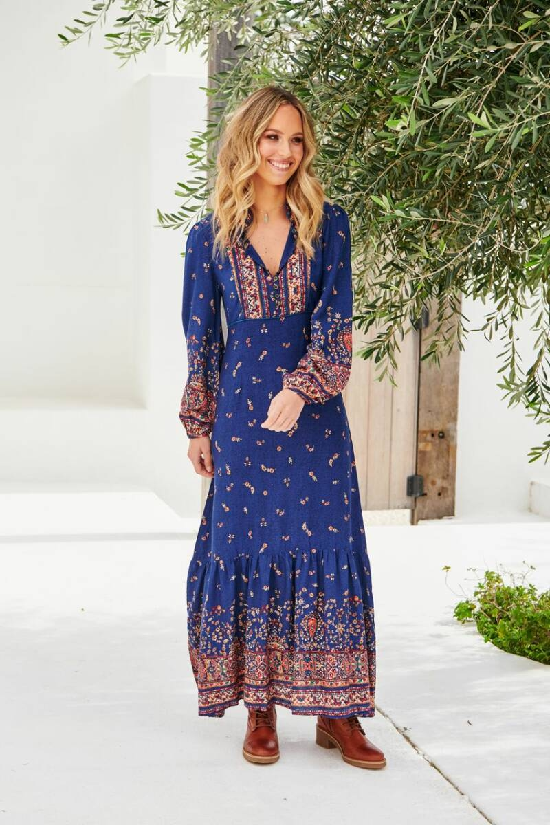 Jaase - Esta print lanie maxi dress