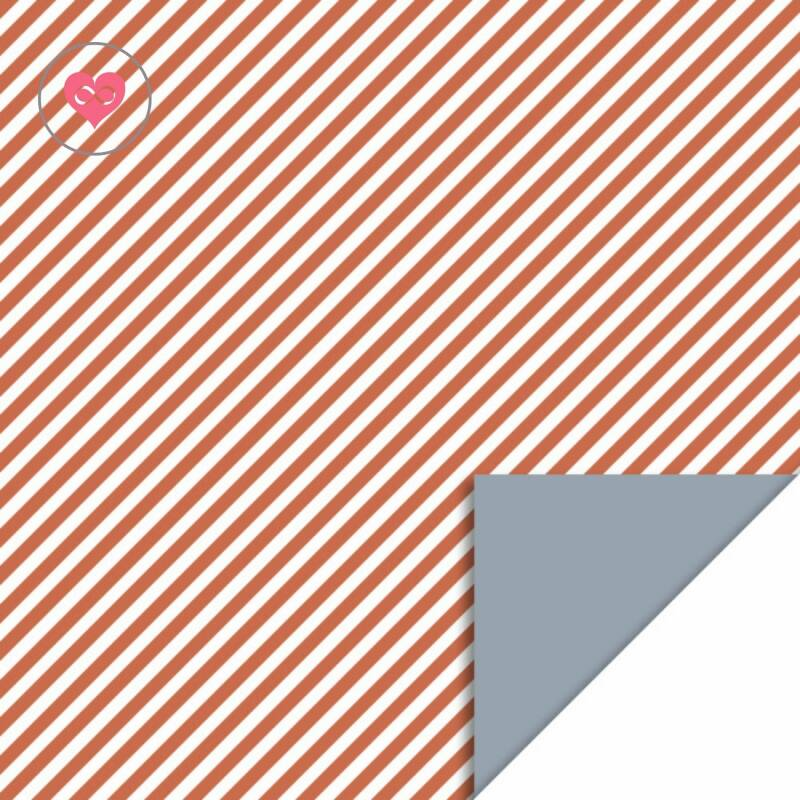 Cadeaupapier   Stripe diagonal faded red   Ice blue   House of Products