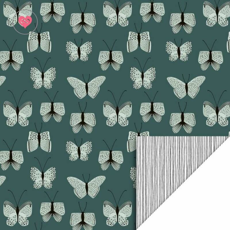 Cadeaupapier | Butterfly - Blue | House of Products | Dubbelzijdig