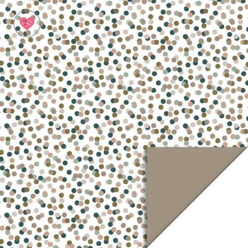 Cadeaupapier   Small Confetti - Taupe   House of Products   Dubbelzijdig