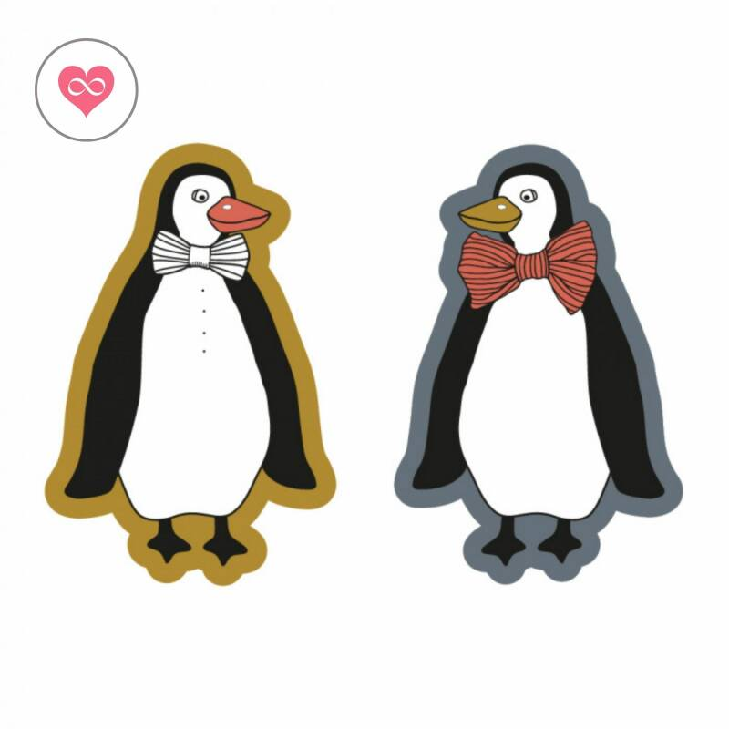 Stickers   Pinguïn   Set van 8   House of products   HOP