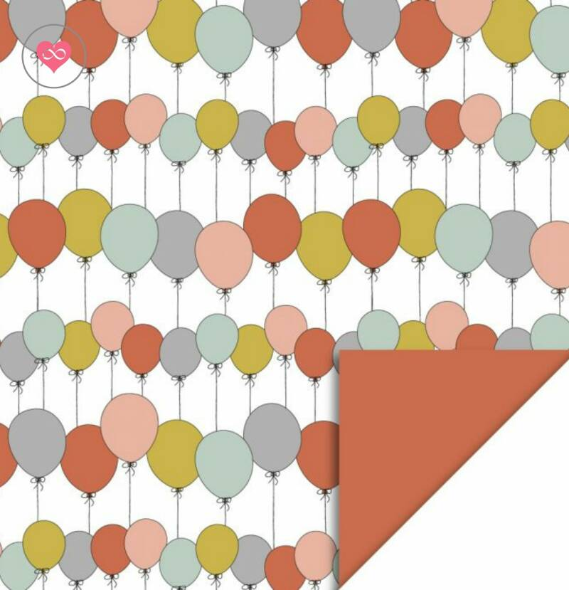 Cadeaupapier   Party Balloons   Bright   House of Products   Dubbelzijdig