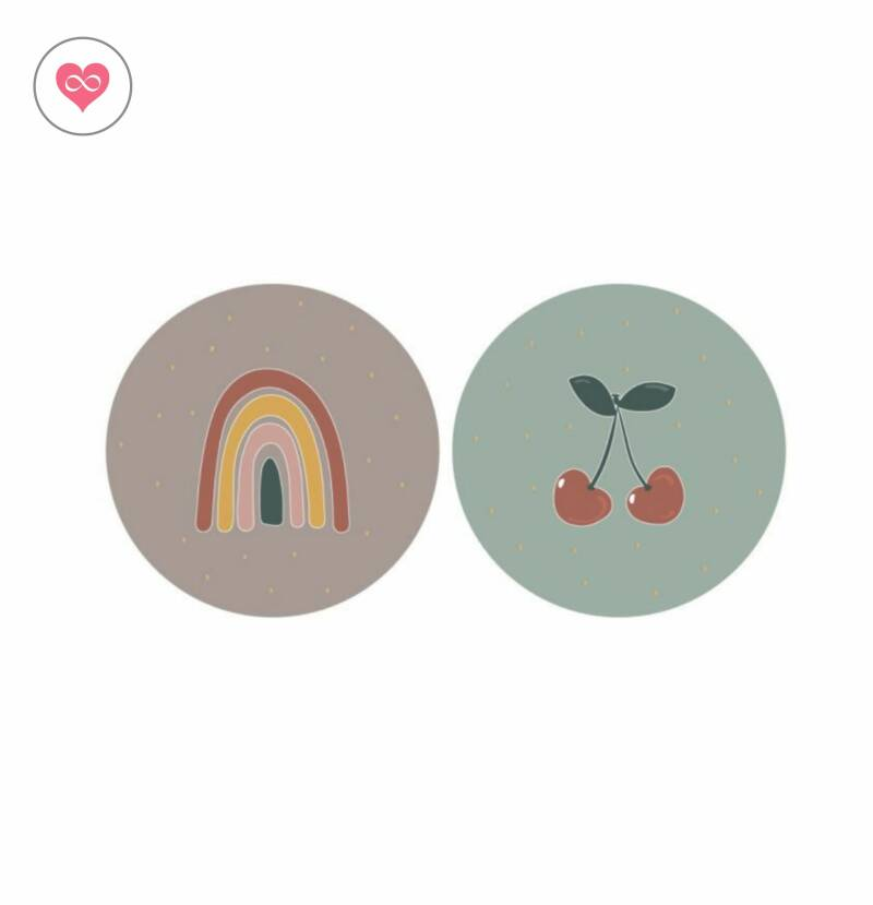 Stickers | Cherry | Rainbow | Set van 12 | House of Products