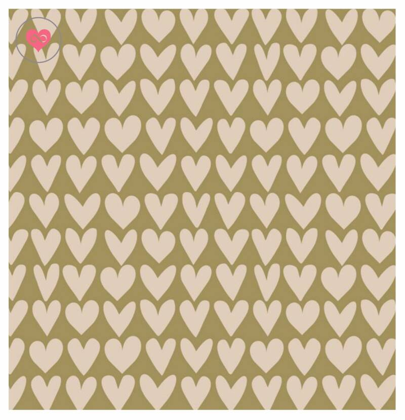 Cadeaupapier   Olive Green   House of Products   Dubbelzijdig