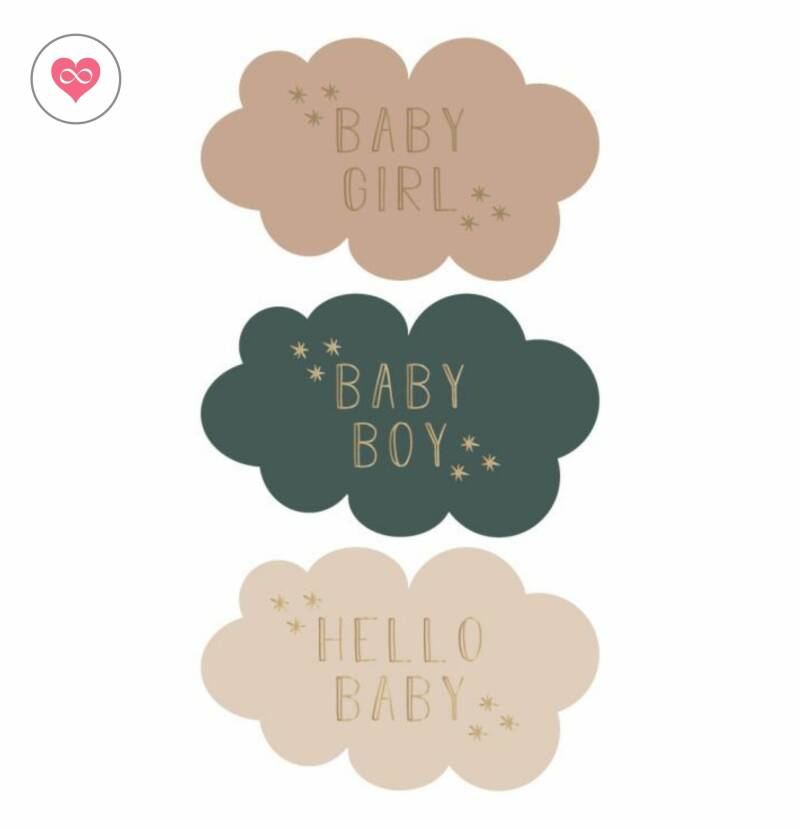 Stickers | Hello Baby | Set van 12 | House of products | HOP