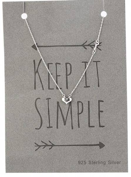 Sterling Silver Hartje Ketting