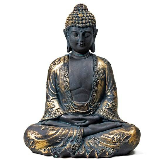 Meditatie Boeddha antieke finish Japan 17x11x22