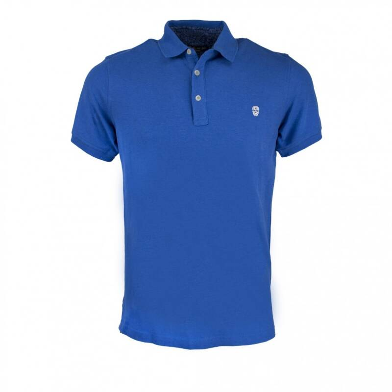 BLACK AND GOLD POLO KLEIN LOGO BLUE