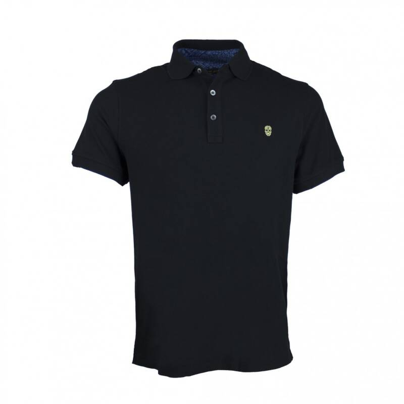 BLACK AND GOLD POLO KLEIN LOGO BLACK
