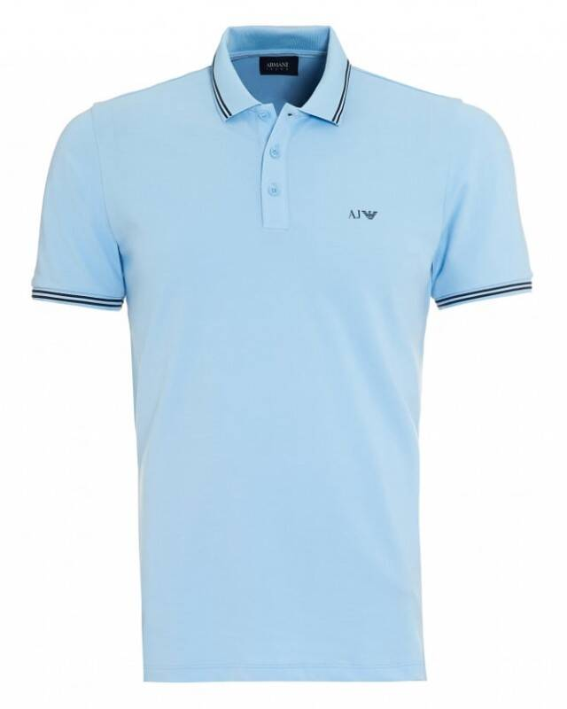ARMANI JEANS POLO LIGHT BLUE