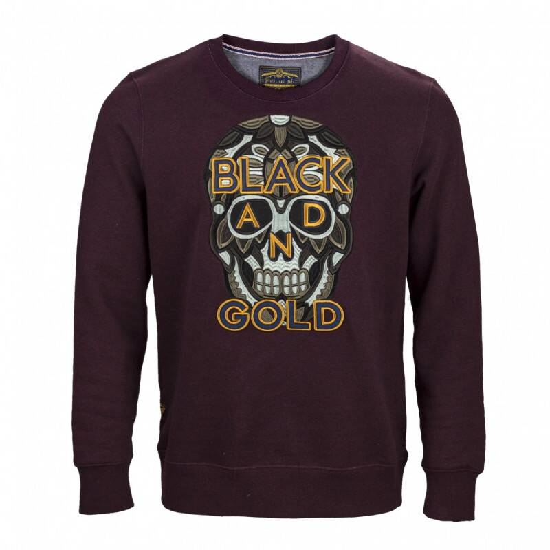 BLACK AND GOLD SWEATER BORDEAUX