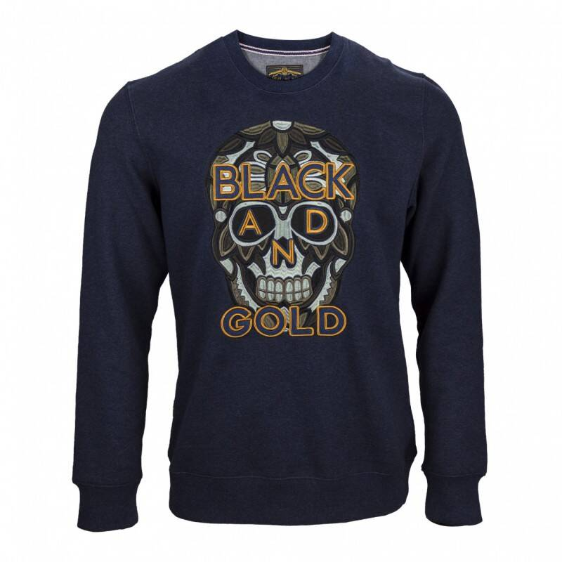 BLACK AND GOLD SWEATER NAVY