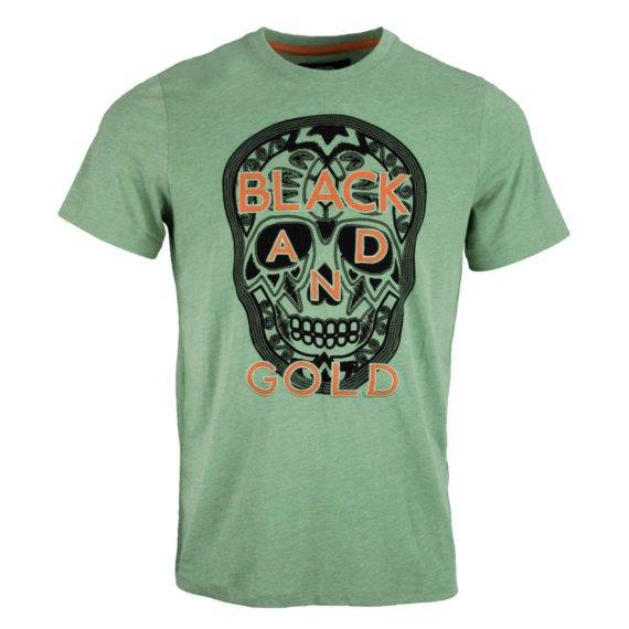 BLACK AND GOLD T`SHIRT GREEN