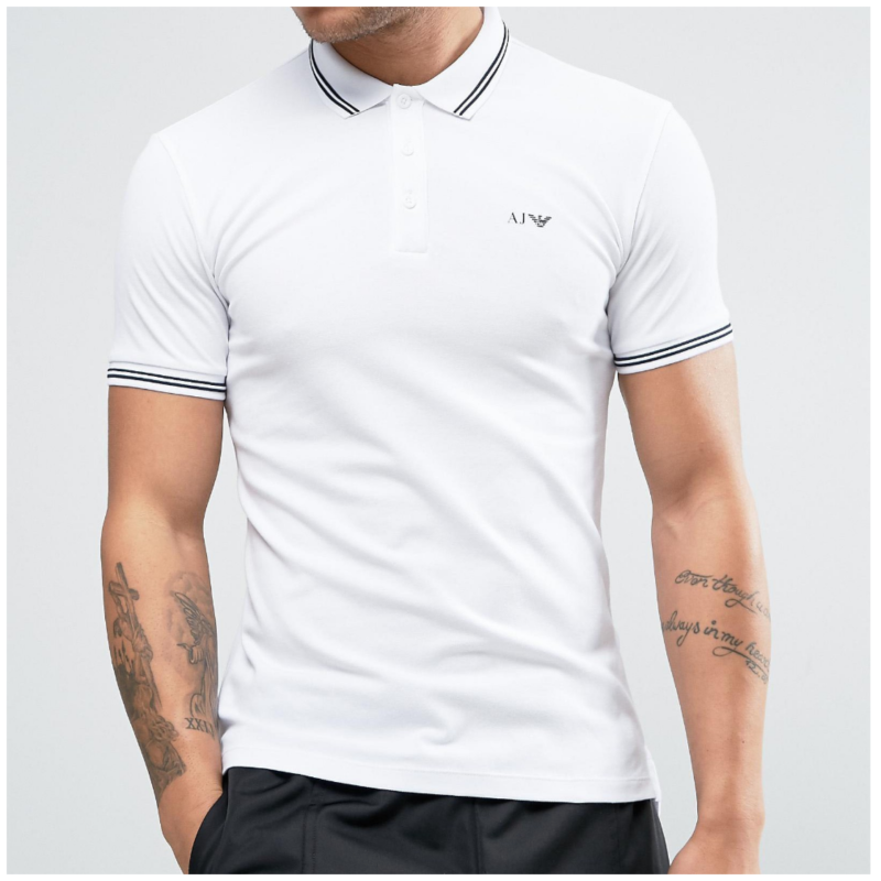 Armani jeans polo wit